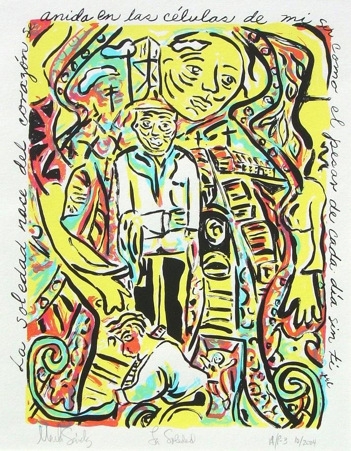 """Soledad, serigraph, 111/2""""x141/2"""" Coronado Studio,"""